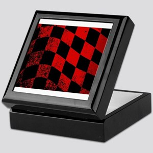 Dirty Chequered Flag Keepsake Box