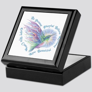 Hummingbird Heart Art Keepsake Box