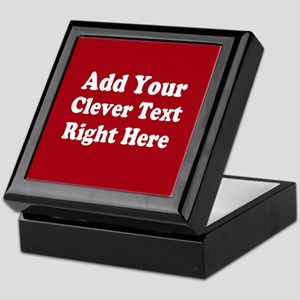 Add Text Background Red White Keepsake Box