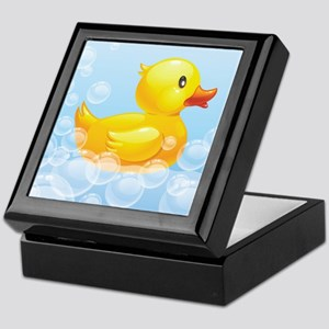 Duck in Bubbles Keepsake Box