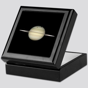 Saturn 4 Moons in Transit Keepsake Box