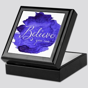 Believe You Can And You Will Blue and Keepsake Box