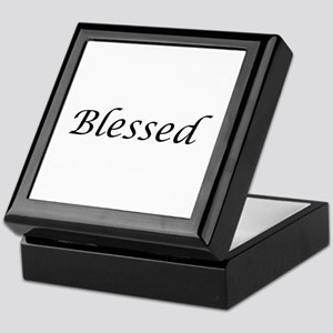 Blessed Calligraphy Style Keepsake Box