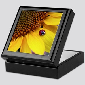 Ladybug on Sunflower1 Keepsake Box