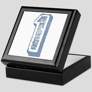 Blue Number 1 Birthday Keepsake Box