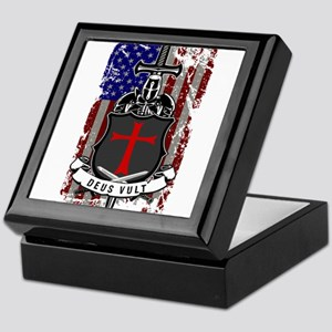 AMERICAN KNIGHT GOD WILLS IT Keepsake Box