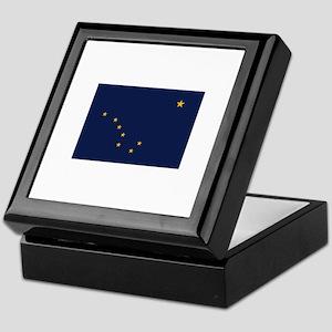 Flag of Alaska Keepsake Box
