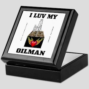 I Luv My Oilman Keepsake Box,Oilfield,Gas