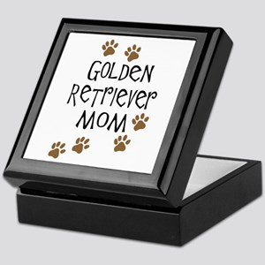 golden retriever mom Keepsake Box
