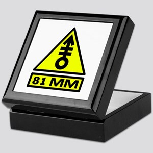 81mm warning Keepsake Box