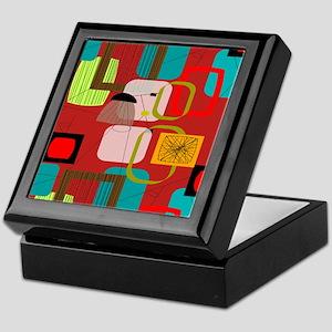 Mid-Century Modern Abstract Keepsake Box