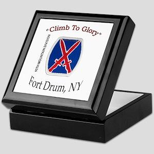 "10th Mountain Div ""Climb To G Keepsake Box"