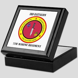 2nd Battalion 7th Marines Keepsake Box