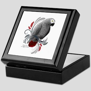 African Grey Keepsake Box