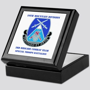 3rd BCT - Special Troops Bn with Text Keepsake Box