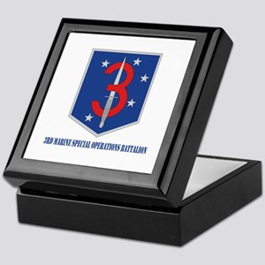 3d Marine Special Operations Bn with Text Keepsake