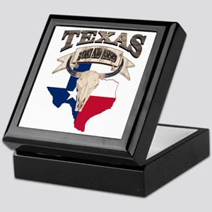 Bull Skull Texas home Keepsake Box