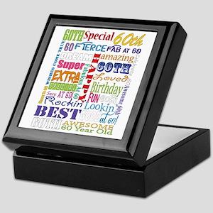 60th Birthday Typography Keepsake Box