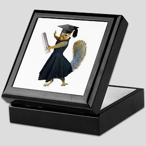 Girl Squirrel Grad Keepsake Box