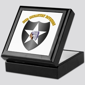 SSI - 2nd Infantry Division with Text Keepsake Box