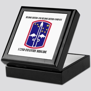 HHC - 172 Infantry Brigade with text Keepsake Box
