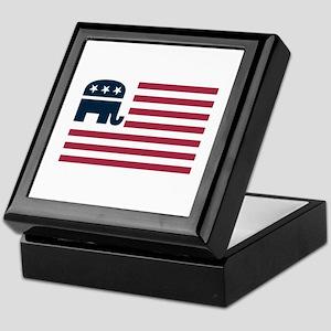 GOP Flag Keepsake Box