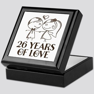 26th Anniversary chalk couple Keepsake Box