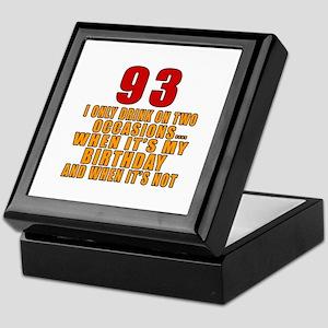 93 Birthday Designs Keepsake Box