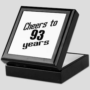Cheers To 93 Years Birthday Keepsake Box
