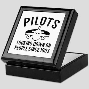 Pilots Looking Down Keepsake Box