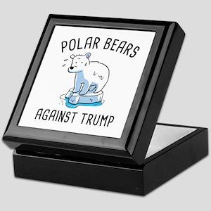 Polar Bears Against Trump Keepsake Box