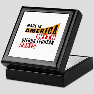Made In America With Sierra Leonean P Keepsake Box