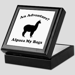 An Adventure? Alpaca My Bags Keepsake Box