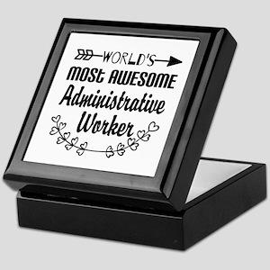World's Most Awesome Administrative W Keepsake Box
