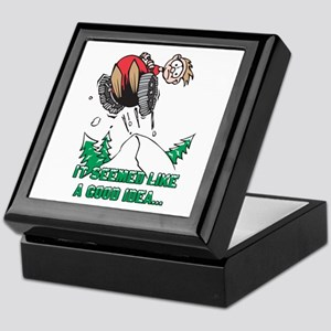 Funny Snowmobile Keepsake Box