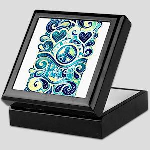 Colorful Hippie Art Keepsake Box