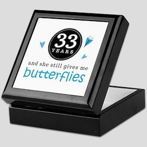 33 Year Anniversary Butterfly Keepsake Box