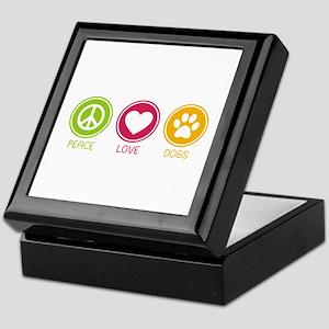 Peace - Love - Dogs 1 Keepsake Box