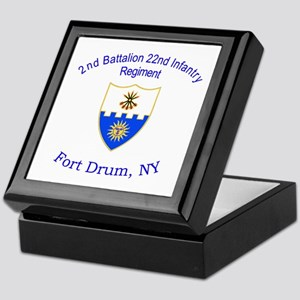 2nd Bn 22nd Inf Reg Keepsake Box