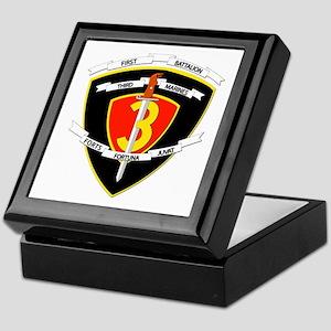 SSI - 1st Battalion - 3rd Marines Keepsake Box