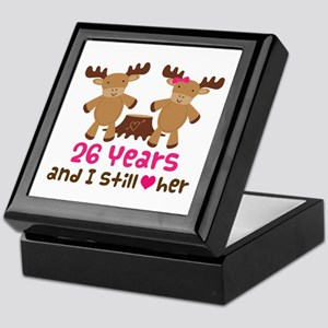 26th Anniversary Moose Keepsake Box