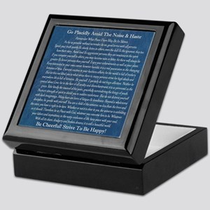 Desiderata on Blue Denim Keepsake Box