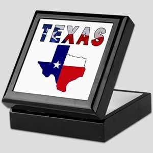Flag Map With Texas Keepsake Box