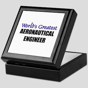 Worlds Greatest AERONAUTICAL ENGINEER Keepsake Box