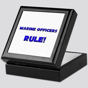 Marine Officers Rule! Keepsake Box