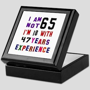 65 Birthday Designs Keepsake Box