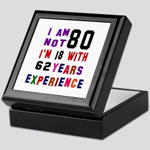 80 Birthday Designs Keepsake Box