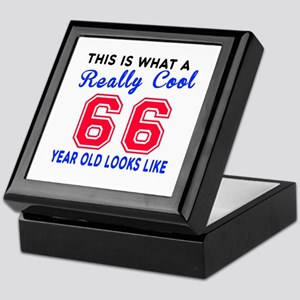 Really Cool 66 Birthday Designs Keepsake Box