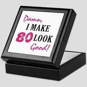 Hot 80th Birthday Keepsake Box