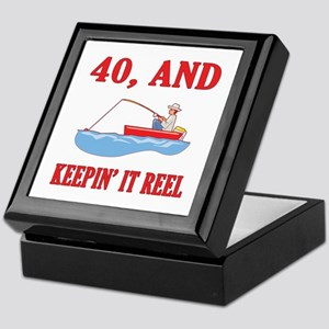 40 And Keepin' It Reel Keepsake Box